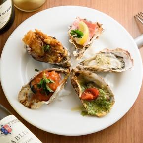 牡蠣のオーブン焼き5種
